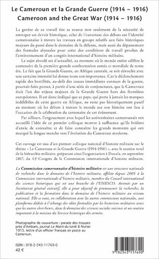 4eme Le Cameroun et la Grande Guerre (1914-1916)
