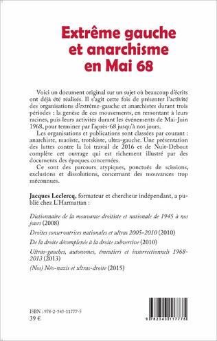 4eme Extrême gauche et anarchisme en Mai 68