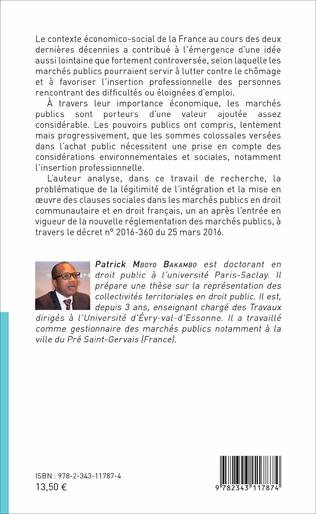 4eme Les clauses sociales dans les marchés publics
