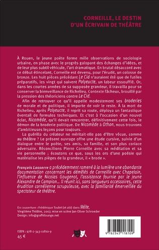 4eme Corneille, le destin d'un écrivain de théâtre