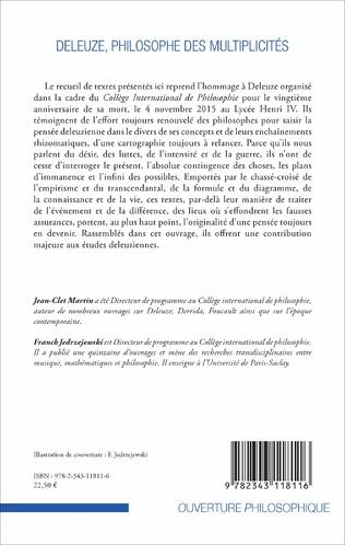4eme Deleuze, philosophe des multiplicités