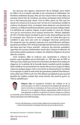 4eme Histoire de la presse sénégalaise Tome 1 Volume 1