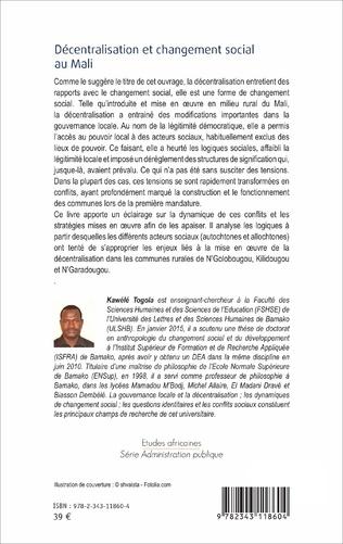 4eme Décentralisation et changement social au Mali