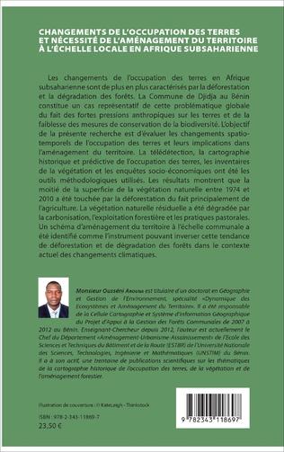 4eme Changements de l'occupation des terres et nécessité de l'aménagement du territoire à l'échelle locale en Afrique subsaharienne