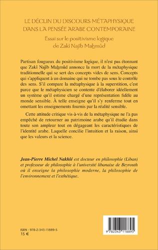 4eme Le déclin du discours métaphysique dans la pensée arabe contemporaine