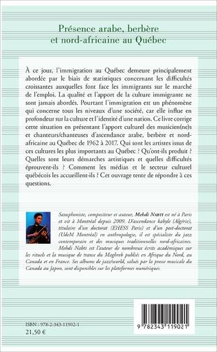 4eme Présence arabe, berbère et nord-africaine au Québec