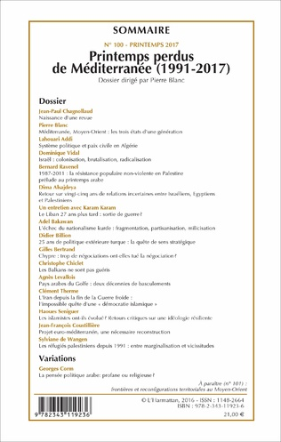 4eme Printemps perdus de Méditerranée (1991-2017)