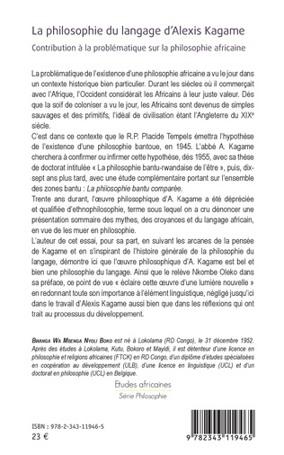4eme La philosophie du langage d'Alexis Kagame