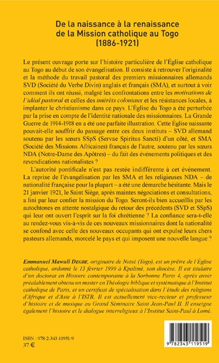4eme De la naissance à la renaissance de la Mission catholique au Togo