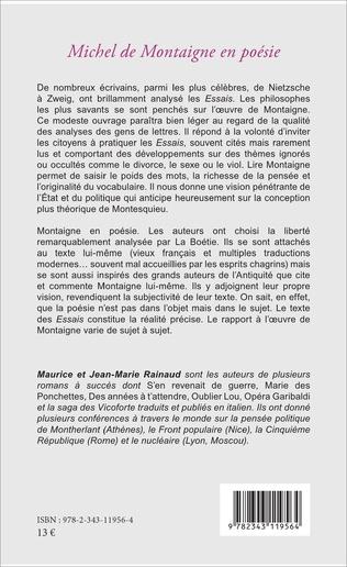 4eme Michel de Montaigne en poésie