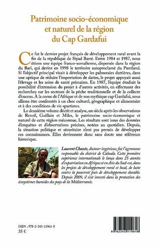 4eme Patrimoine socio-économique et naturel de la région du Cap Gardafui