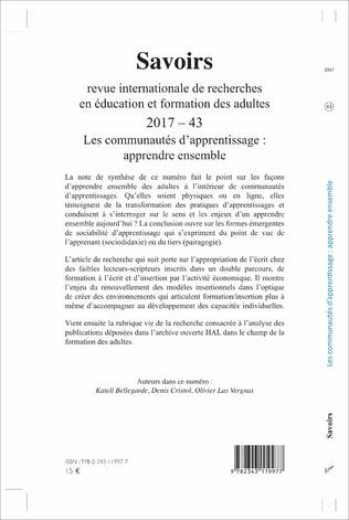 4eme Les communautés d'apprentissage : apprendre ensemble