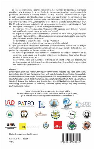 4eme Sciences participatives, gouvernance des patrimoines et territoires des deltas