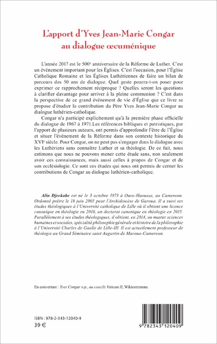 4eme L'apport d'Yves Jean-Marie Congar au dialogue œcuménique