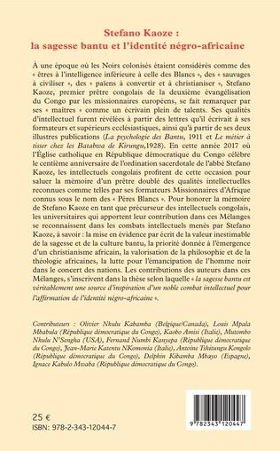 4eme Stefano Kaoze : la sagesse bantu et l'identité négro-africaine