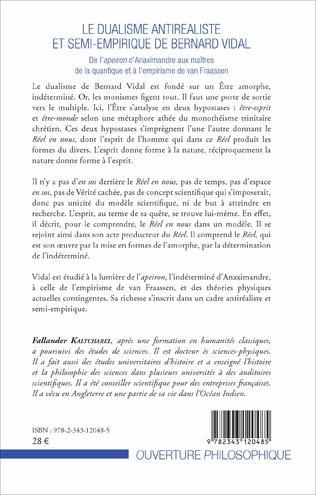 4eme Le dualisme antiréaliste et semi-empirique de Bernard Vidal