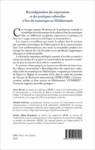 4eme Reconfiguration des expressions et des pratiques culturelles à l'ère du numérique en Méditerranée