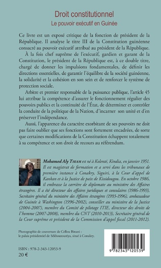 4eme Droit constitutionnel. Le pouvoir exécutif en Guinée