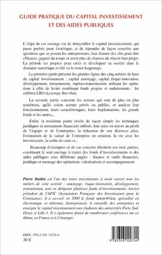 4eme Guide pratique du capital investissement et des aides publiques