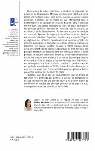 4eme Les principes généraux dans la jurisprudence de l'organe de règlement des différends de l'OMC