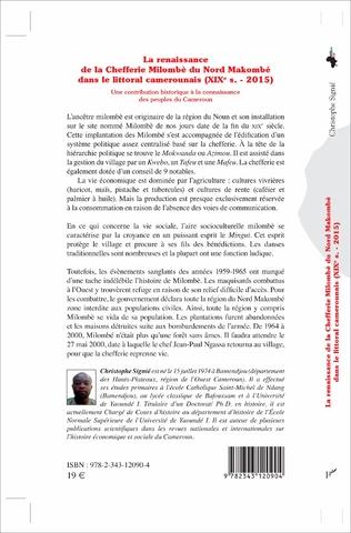 4eme La renaissance de la Chefferie Milombè du Nord Makombé dans le littoral camerounais (XIXe s. - 2015)