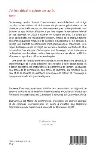 4eme L'Union africaine quinze ans après Tome 1