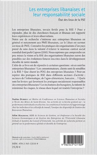 4eme Les entreprises libanaises et leur responsabilité sociale