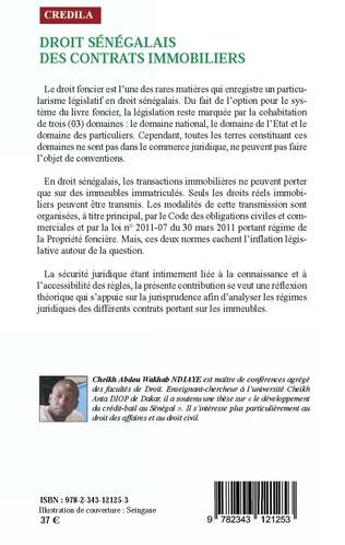 4eme Droit sénégalais des contrats immobiliers