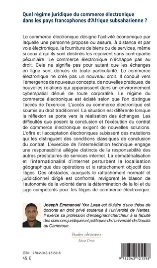 4eme Quel régime juridique du commerce électronique dans les pays francophones d'Afrique subsaharienne ?