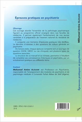 4eme Épreuves pratiques en psychiatrie