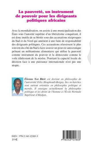 4eme La pauvreté, un instrument de pouvoir pour les dirigeants politiques africains