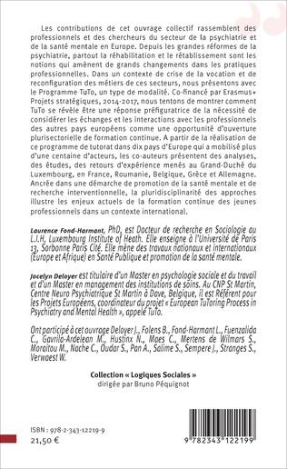 4eme Emploi, Formation et Tutorat en santé mentale : des innovations nécessaires en Europe
