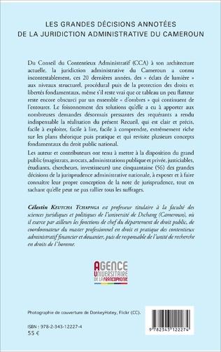 4eme Les grandes décisions annotées de la juridiction administrative du Cameroun