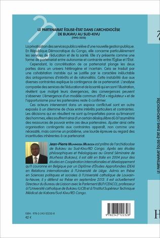 4eme Le partenariat Eglise-Etat dans l'archidiocèse de Bukavu au Sud-Kivu (1990-2012)