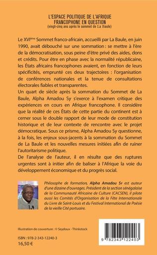 4eme L'espace politique de l'Afrique francophone en question