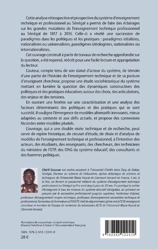 4eme Odyssée et mutations actuelles de l'enseignement technique et professionnel au Sénégal de 1817 à 2016