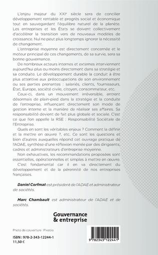 4eme Gouvernance et responsabilité sociétale des PME