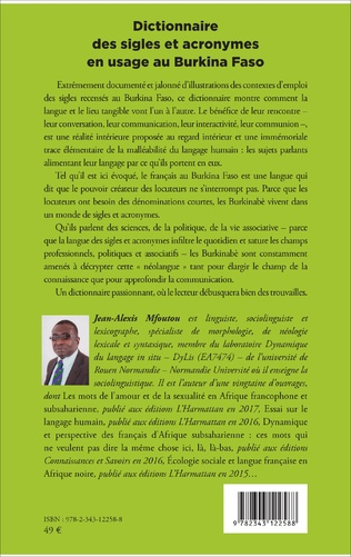4eme Dictionnaire des sigles et acronymes en usage au Burkina Faso