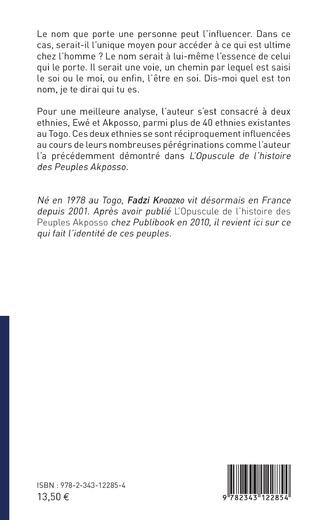 4eme Essai socio-anthropologique des noms et prénoms Akposso et Ewe au Togo