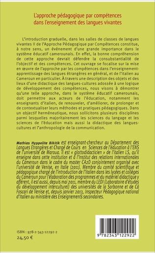 4eme L'approche pédagogique par compétences dans l'enseignement des langues vivantes