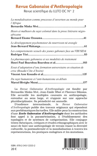 4eme Revue gabonaise d'anthropologie n° 2
