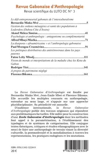 4eme Revue gabonaise d'anthropologie n° 3