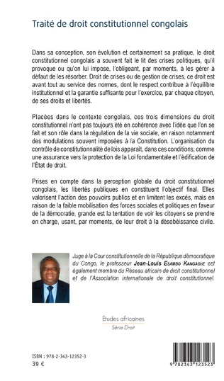 4eme Traité de droit constitutionnel congolais