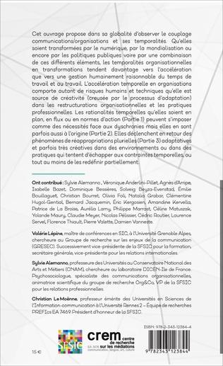 4eme Communications & organisations : accélérations temporelles