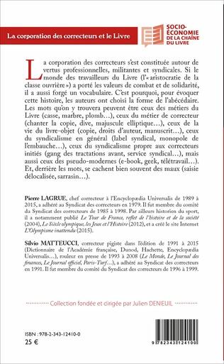 4eme La corporation des correcteurs et le Livre