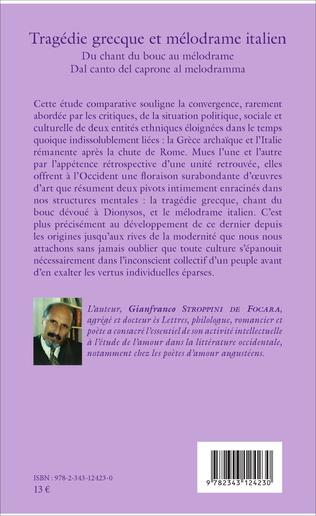 4eme Tragédie grecque et mélodrame italien