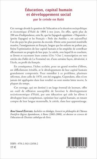 4eme Éducation, capital humain et développement social par le créole en Haïti