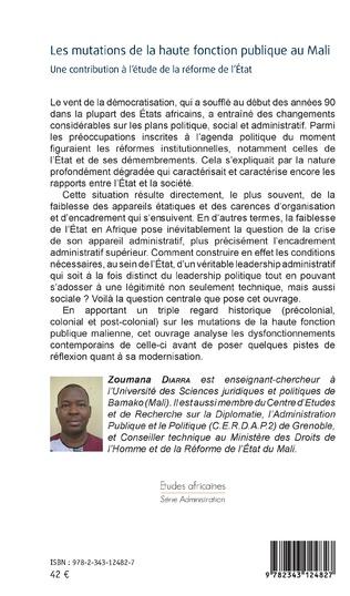 4eme Les mutations de la haute fonction publique au Mali
