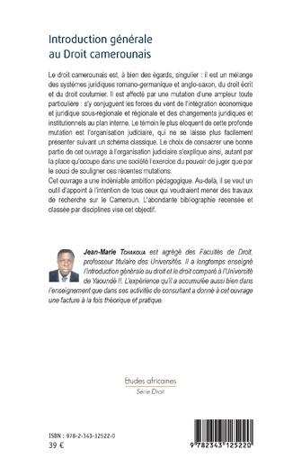 4eme Introduction générale au Droit camerounais