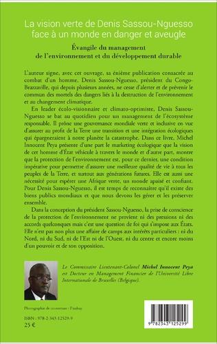 4eme La vision verte de Denis Sassou-Nguesso face à un monde en danger et aveugle